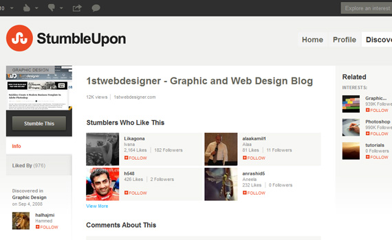 Stumbleupon-websites-promote-articles-social
