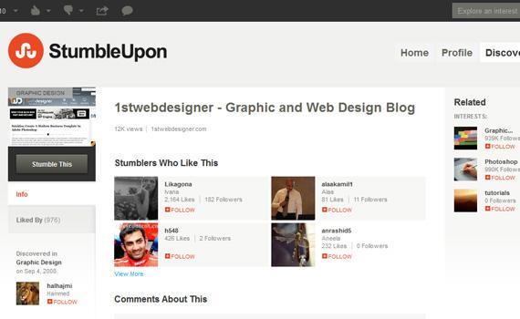 Stumbleupon-websites-promote-articles-social