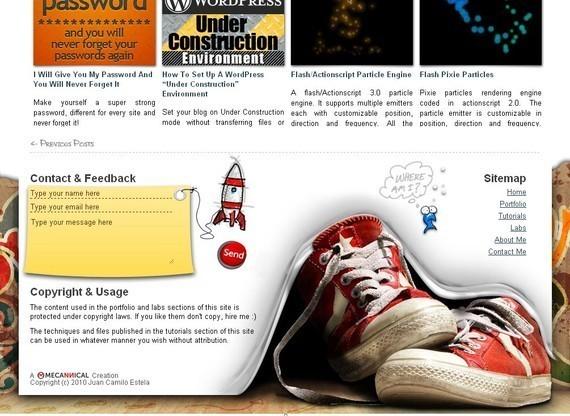 footer design inspiration Mecannical