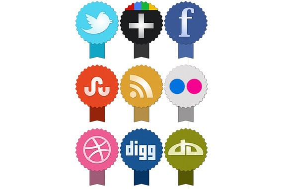 Freebie: Set of social icons
