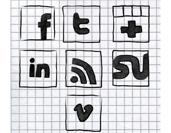 Hand-Drawn Social Icons by NatalyBirch