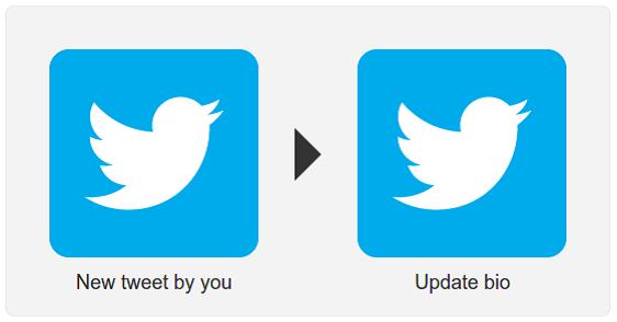 Update Twitter Bio from Tweet