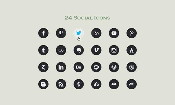 24 Vector Social Icons