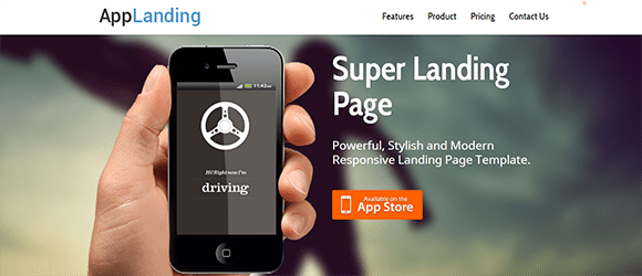 free responive web template html css AppLanding