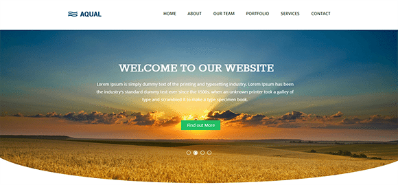 free responive web template html css Aqual