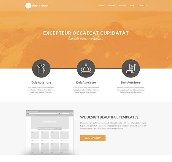 free responive web template html css Clean-HTML5-Template