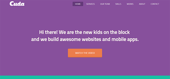 free responive web template html css Cuda