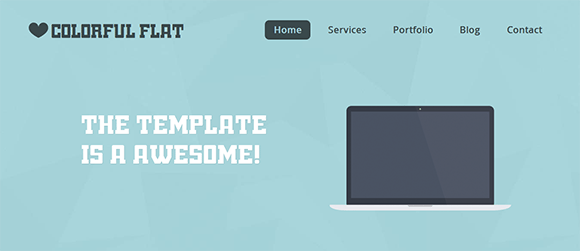 free responive web template html css Flat-Single-Page