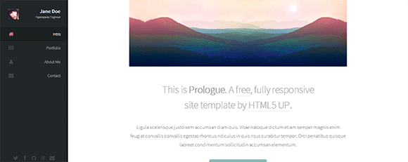 free responive web template html css Prologue