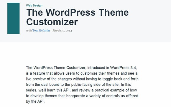 The WordPress Theme Customizer