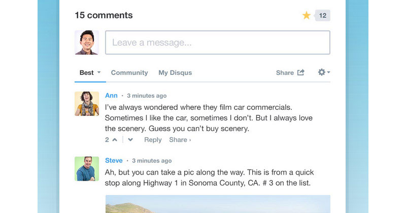 Encourage and manage comments better with Disqus.