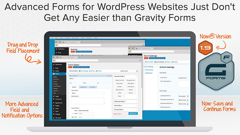 Add advanced forms to WordPress website.