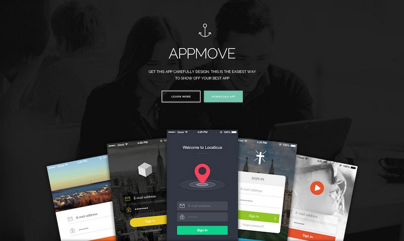 AppMove - Modern Responsive App Landing PSD Template
