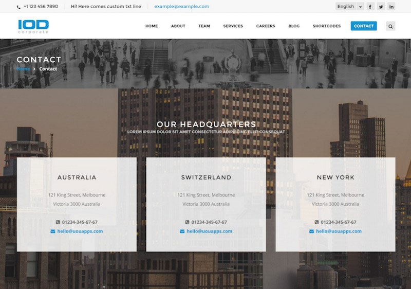 IOD - Corporate PSD Template