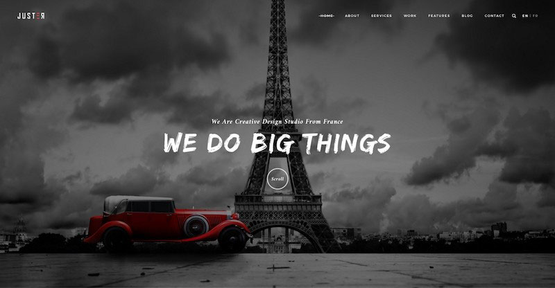 Juster – Minimal Multi-Purpose PSD Template