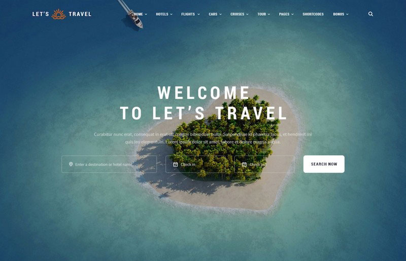 Let's Travel - Premium Multipurpose Template