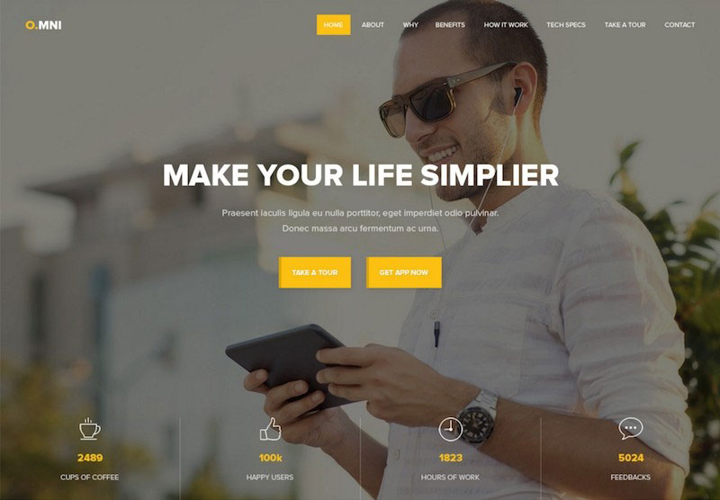 Omni Onepage App Template