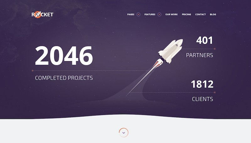 Rocket - Creative Multipurpose PSD Template