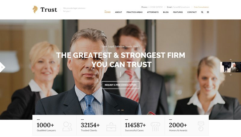 Trust - Lawyer & Attorney Business PSD Template