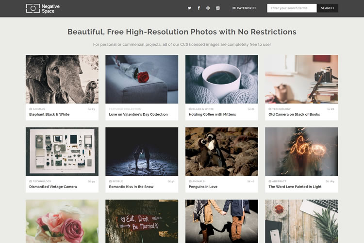 NegativeSpace provides stunning high-quality stock photos for free.