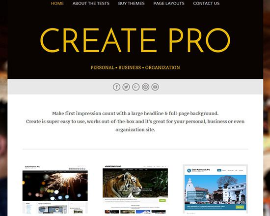 create-best-free-wordpress-theme