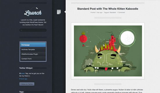 Launch free wordpress theme