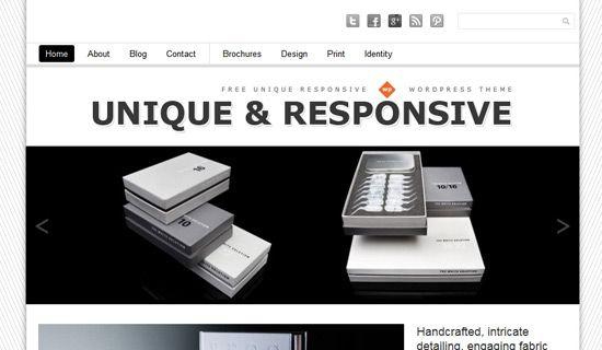 Unique free wordpress theme