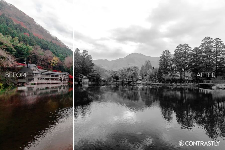 Black White Photoshop Action Bundle Contrastly