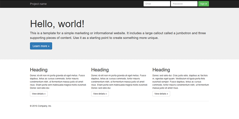Initializr bootstrap template