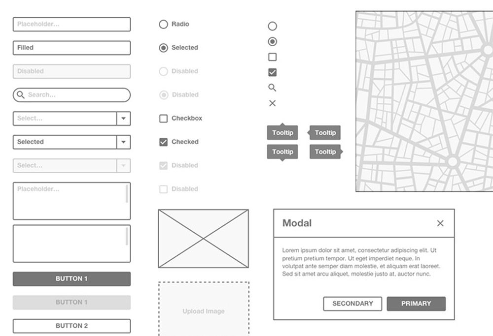 dark wireframe kit