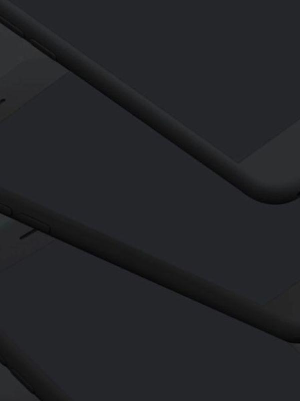 Simple Mobile Mockups Dark