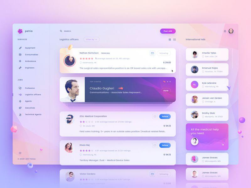 Pehia Dashboard Inspiring Designed Admin Dashboard Layouts