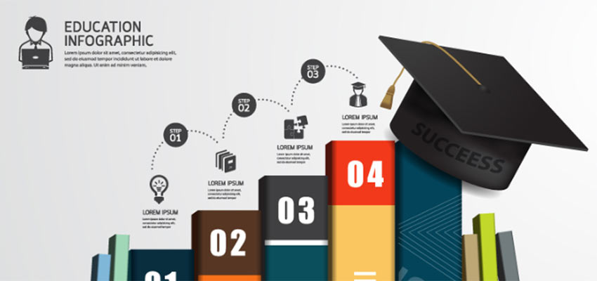 Educational Learning Infographic Vector