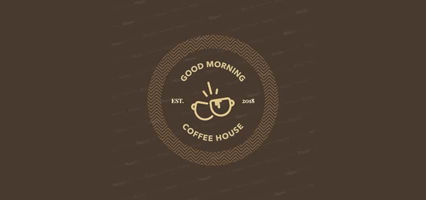 The final result: A custom coffee shop logo.