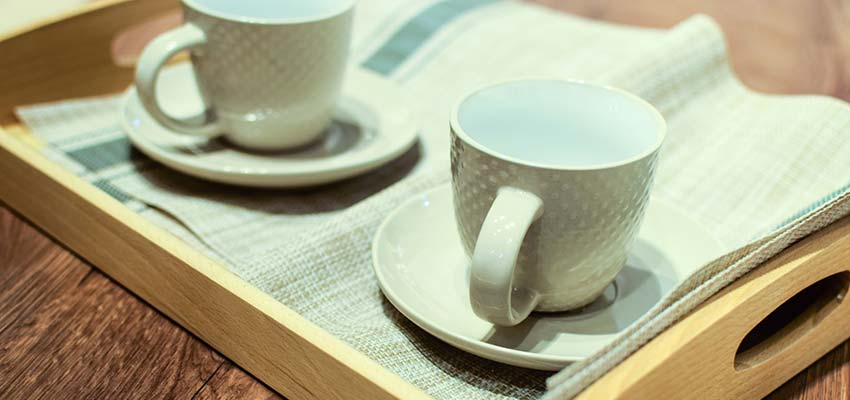 Coffee Cups on a Tray