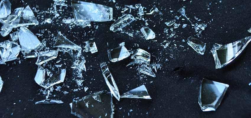 Bits of broken glass.