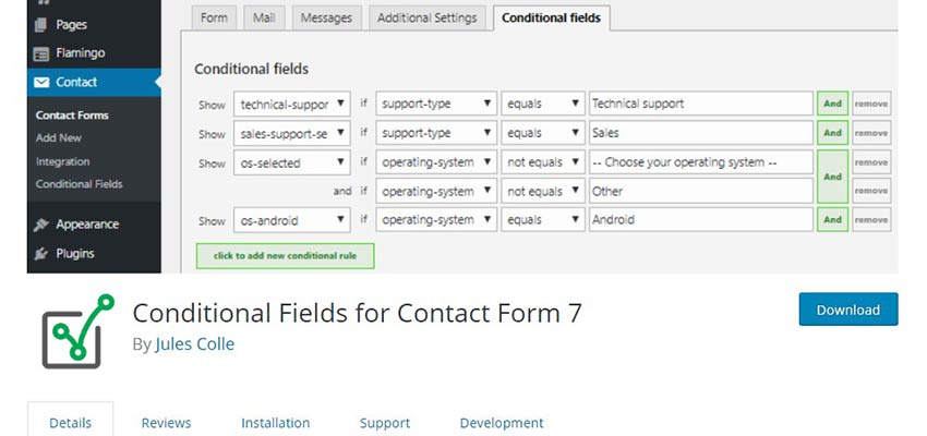 Conditional Fields for Contact Form 7