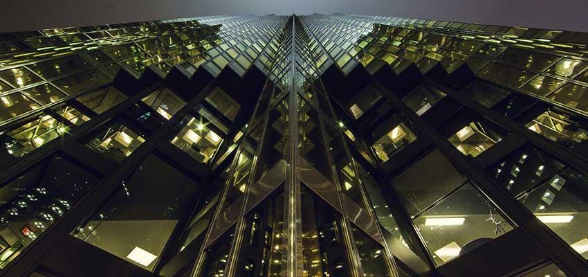 A skyscraper building.