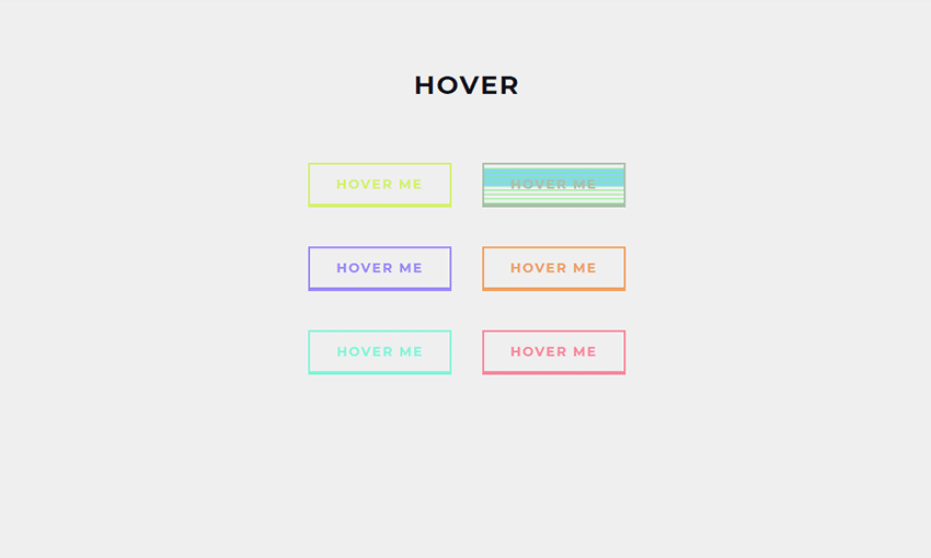 Example of Buttons with Trippy Background Animation on Hover