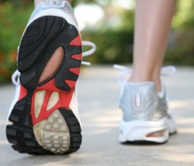 Picture of sneakers walking
