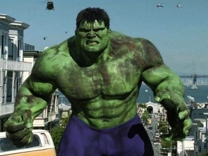 As exposure to gamma radiation transforms Bruce Banner into the Hulk, exposure to alpha-particle radiation can transform thermoelectric materials into far more powerful versions of themselves. (The Hulk, Universal Pictures, 2003, filmed in part at Berkeley Lab)
