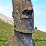 30ft tall Moai Statue. Easter Island, Chile
