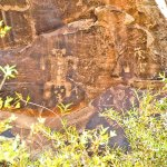 Ancient birthing process in Chevelon Canyon, Arizona