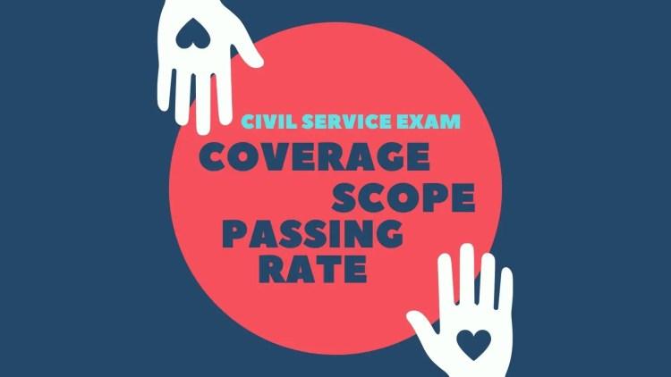 civil service exam coverage scope passing rate philippines