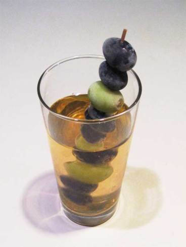 frozen grapes swizzle stick
