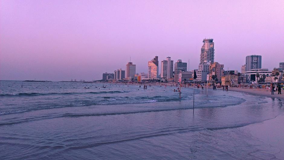 Tel Aviv Skyline Sonnenuntergang