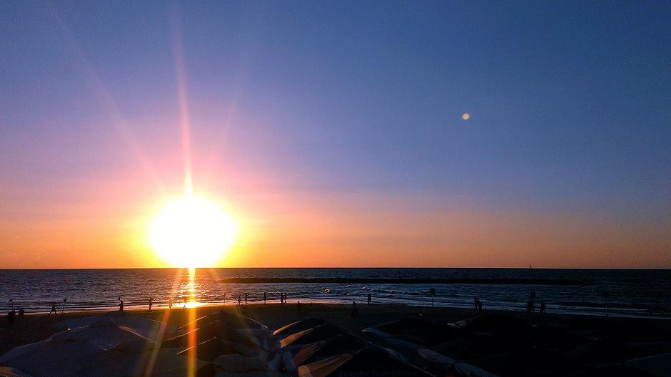 Tel Aviv Sonnenuntergang Strand