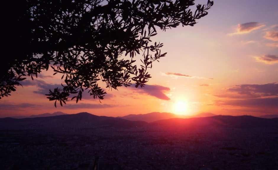 Sonnenuntergang Athen Likavitos
