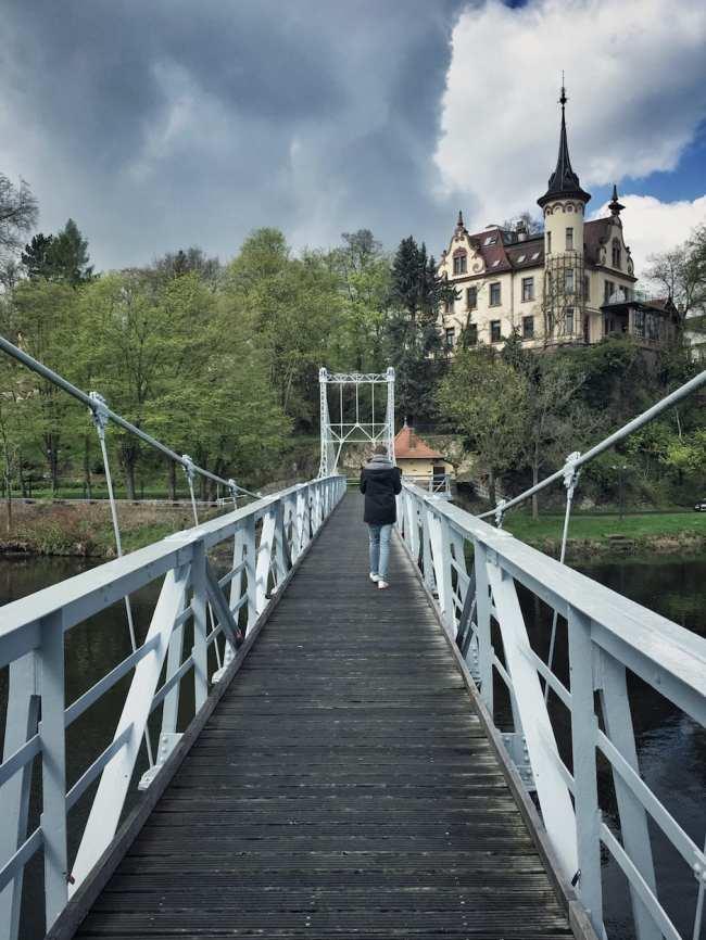 Grimma Hängebrücke