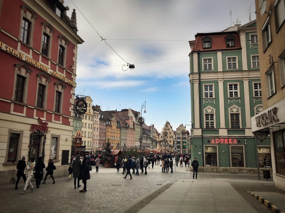 Breslau im Winter Weihnachtsmarkt